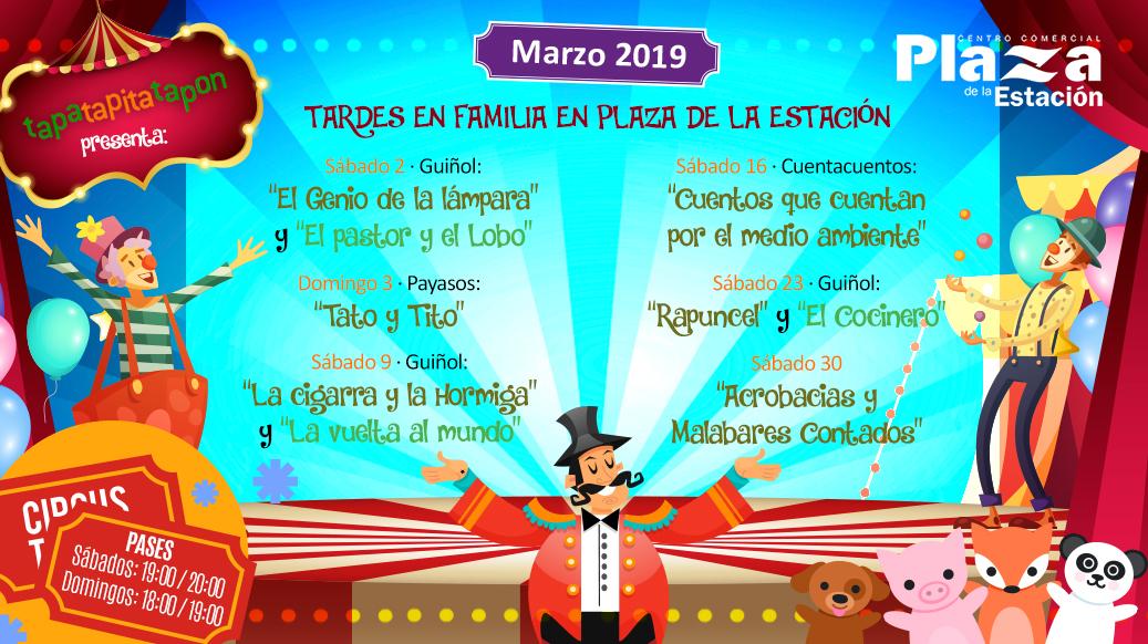 Animaciones infantiles en Centro Comercial Plaza Estación – Marzo