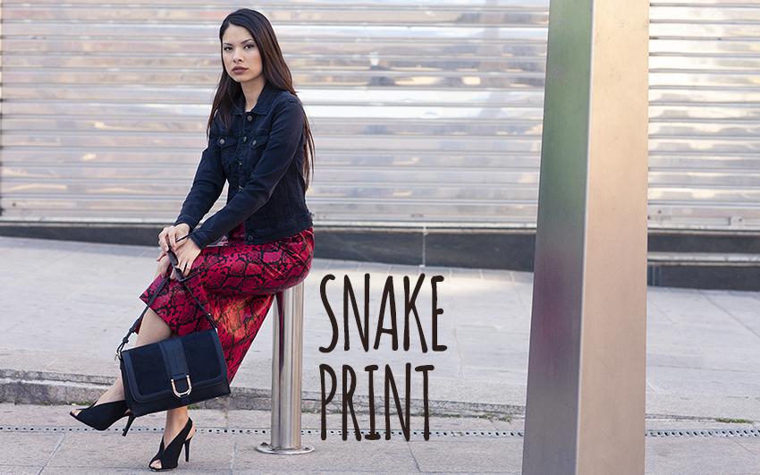 Enamoradas del «snake print»
