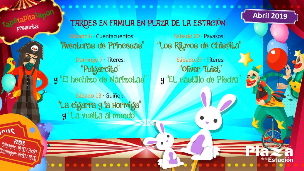 Animaciones infantiles en Centro Comercial Plaza Estación – Abril