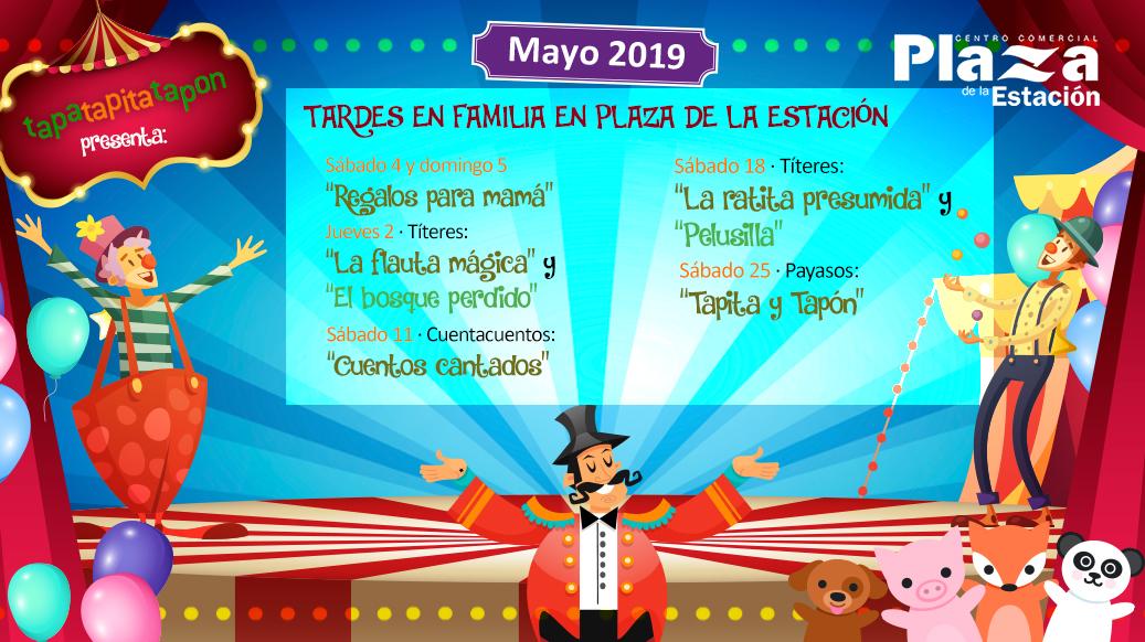 Animaciones infantiles en Centro Comercial Plaza Estación – Mayo