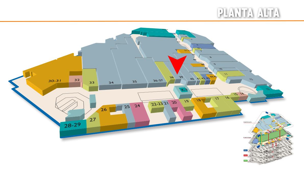 mapa de planta alta